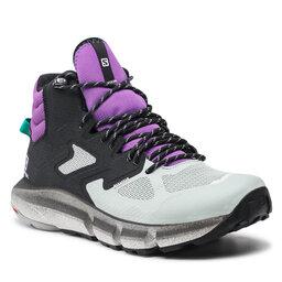 Salomon Turistiniai batai Salomon Predict Hike Mid Gtx GORE-TEX 414610 27V0 Black/Aqua Gray/Royal Lilac