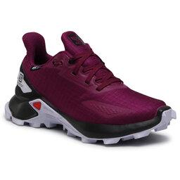 Salomon Взуття Salomon Alphacross Blast Cswp J 412908 09 V0 Plum Caspia/Black/Purple Heather