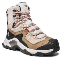 Salomon Трекінгові черевики Salomon Quest Element Gtx W GORE-TEX 414575 20 V0 Safari/Vanilla Ice/Mecca Orange