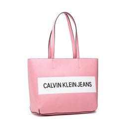 Calvin Klein Jeans Rankinė Calvin Klein Jeans Shopper K60K608563 Soft Berry