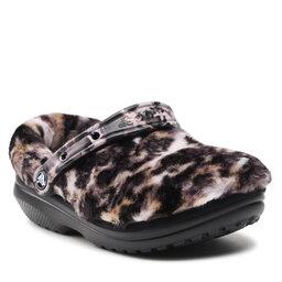 Crocs Шльопанці Crocs Classic Fur Sure Clog 207303 Black/Multi