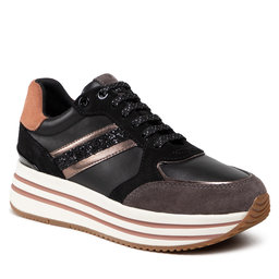 Geox Laisvalaikio batai Geox D Kency B D16QHB 08522 C9999 Black