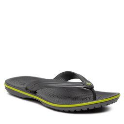 Crocs Šlepetės per pirštą Crocs Crocband Flip 11033 Graphite/Volt Green