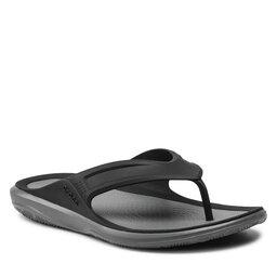 Crocs Šlepetės per pirštą Crocs Swiftwater Wave Flip M 206242 Black/Slate Grey