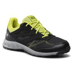 Jack Wolfskin Трекінгові черевики Jack Wolfskin Woodland Low K 4042171 Black/Lime