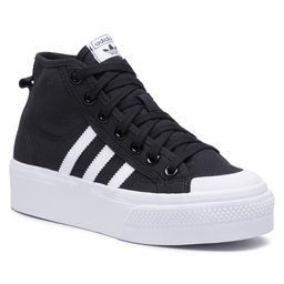 adidas Batai adidas Nizza Platform Mid W FY2783 Cblack/Ftwwht/Ftwwht