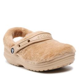 Crocs Шльопанці Crocs Classic Fur Sure 207303 Chai