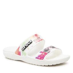 Crocs Шльопанці Crocs Classic Crocs Tiedye Grphcsndl 207283 White/Multi