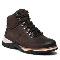 Clarks Turistiniai batai Clarks ToptonPine Gtx GORE-TEX 261612607 Dark Brown Leather