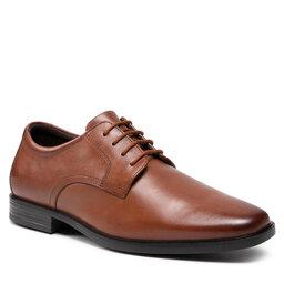 Clarks Pusbačiai Clarks Howard Walk 261620177 Dark Tan Leather