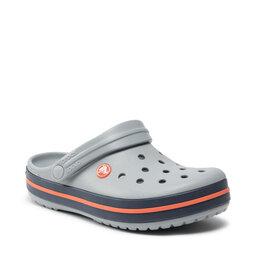 Crocs Шльопанці Crocs Crocband 11016 Light Grey/Navy