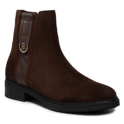 Tommy Hilfiger Aulinukai Tommy Hilfiger Hardware Suede Flat Boot FW0FW05974 Cocoa GT6
