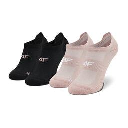 4F Набір з 2 пар низьких жіночих шкарпеток 4F H4L21-SOD004 Jasny Róż/Głęboka Czerń