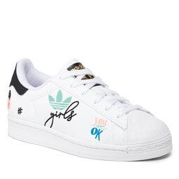 adidas Batai adidas Superstar Pure J H03995 Ftwwht/Cblack/Goldmt