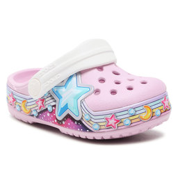 Crocs Шльопанці Crocs Flstarbandclog K 207075 Ballerina Pink