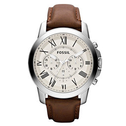 Fossil Годинник Fossil Grant FS4735IE Brown/Silver