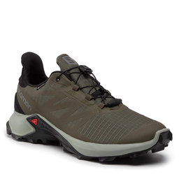 Salomon Взуття Salomon Supercross 3 Gtx GORE-TEX 414539 Olive Night/Wrought Iron/Black