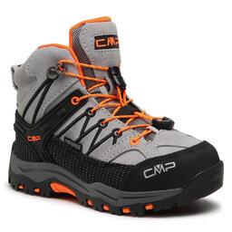 CMP Трекінгові черевики CMP Kids Rigel Mid Trekking Shoe Wp 3Q12944 Cemento/Flash Orange