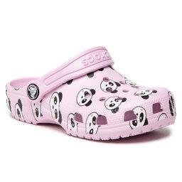 Crocs Шльопанці Crocs Classic Panda Print Clog K 206999 Ballerina Pink