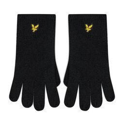 Lyle & Scott Чоловічі рукавички Lyle & Scott Racked Rib Gloves GL304CL True Black
