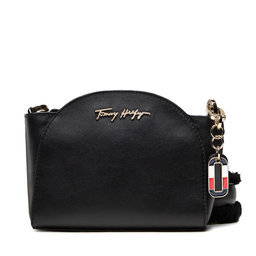 Tommy Hilfiger Rankinės Tommy Hilfiger Luxe Leather Clutch Wide Strap AW0AW10488 BDS