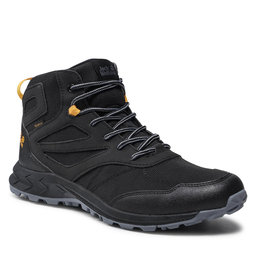 Jack Wolfskin Трекінгові черевики Jack Wolfskin Woodland Texapore Mid K 4042152 Black/Burly Yellow Xt