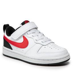 Nike Batai Nike Court Borough Low 2 (Psv) BQ5451 110 White/University Red/Black