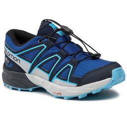 Salomon Трекінгові черевики Salomon Speedcross Cswp J 411251 09 M0 Surf The Web/Navy Blazer/Ethereal Blue