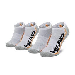 Head Unisex trumpų kojinių komplektas (2 poros) Head 791018001 White/Grey 062