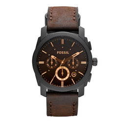 Fossil Годинник Fossil Machine FS4656IE Brown/Black