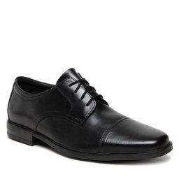 Clarks Pusbačiai Clarks Howard Cap 261620127 Black Leather
