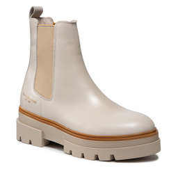 Tommy Hilfiger Štibletai Tommy Hilfiger Monochromatic Chelsea Boot FW0FW05950 White Dove AF2