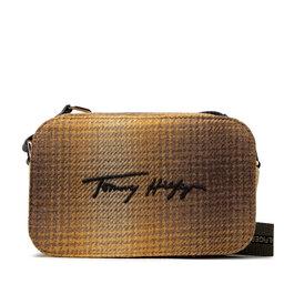 Tommy Hilfiger Rankinės Tommy Hilfiger Iconic Tommy Camera Bag Check AW0AW11044ZEY YEL