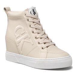 Calvin Klein Jeans Laisvalaikio batai Calvin Klein Jeans Hidden Wedge Sneaker YW0YW00438 Muslin AEO