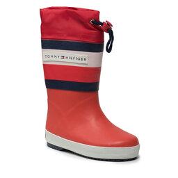 Tommy Hilfiger Guminiai batai Tommy Hilfiger Rain Boot T3X6-32105-1235 M Red 300