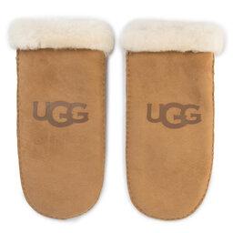 Ugg Жіночі рукавички Ugg W Sheepskin Logo Mitten 18690 Chestnut