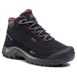 Salomon Трекінгові черевики Salomon Shelter Cs Wp W 411105 21 V0 Black/Ebony/Winetasting