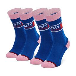 Tommy Jeans Moteriškų ilgų kojinių komplektas (2 poros) Tommy Jeans 100000398 Dark Blue 009