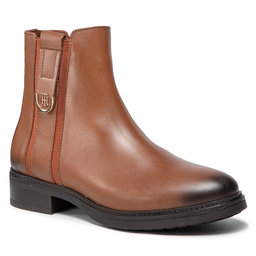 Tommy Hilfiger Aulinukai Tommy Hilfiger Th Hardware Leather Boot FW0FW05996 Winter Cognac GVI