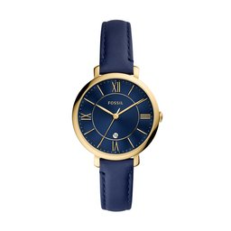 Fossil Годинник Fossil Jacqueline ES5023 Navy/Gold