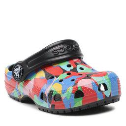 Crocs Шльопанці Crocs Classic Bubble Block Clog Kids 207320 Black/Multi