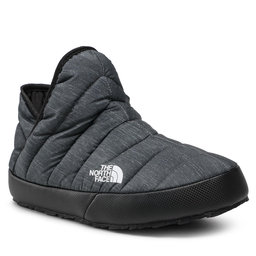 The North Face Naminės šlepetės The North Face Thermoball Traction Bootie NF0A331H4111 Phantom Grey Heather Print/Tnf Black