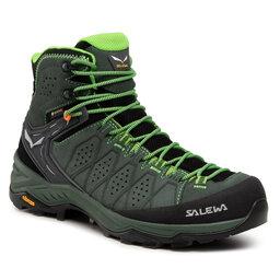 Salewa Трекінгові черевики Salewa Ms Alp Trainer 2 Mid Gtx GORE-TEX 61382-5322 Raw Green/Pale Frog