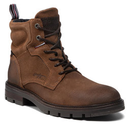 Tommy Hilfiger Ilgaauliai Tommy Hilfiger Elevated Padded Suede Boot FM0FM03778 Timber GWD