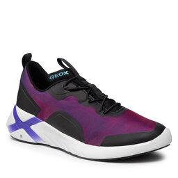 Geox Laisvalaikio batai Geox J Playkix G. A J04BMA 0AS54 C8277 S Violet/Black