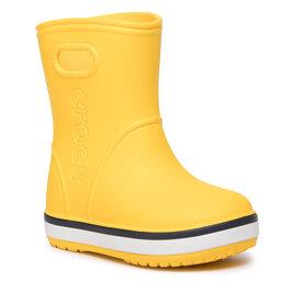 Crocs Guminiai batai Crocs Crocband Rain Boot K 205827 Yellow/Navy