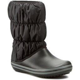 Crocs Снігоходи Crocs Winter Puff Boot 14614 Black/Charcoal