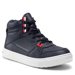 Tommy Hilfiger Laisvalaikio batai Tommy Hilfiger Higt Top Lace-Up Sneaker T3B4-32064-0193 S Blue 800