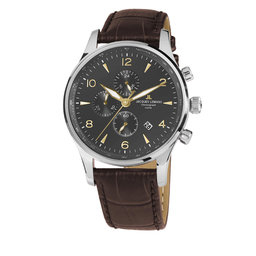 Jacques Lemans Годинник Jacques Lemans 1-1844ZJ Brown/Silver