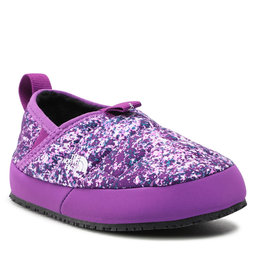 The North Face Naminės šlepetės The North Face Youth Thermoball Traction Mule II NF0A39UX32J Gravity Purple Paint Spots Print/Gravity Purple
